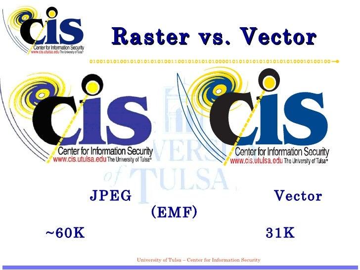 Raster vs. Vector <ul><li> JPEG   Vector (EMF) </li></ul><ul><li>~60K   31K </li></ul>