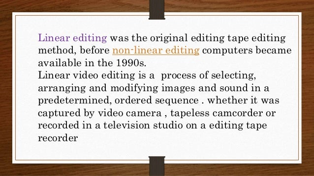 aspects of editing