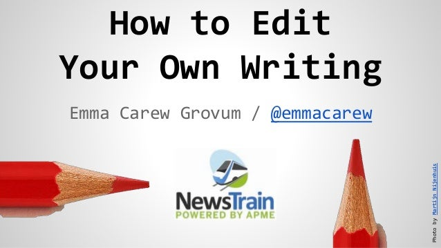 Editing your own thesis