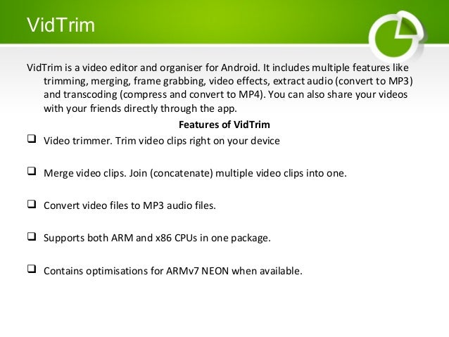 Android Editing applications