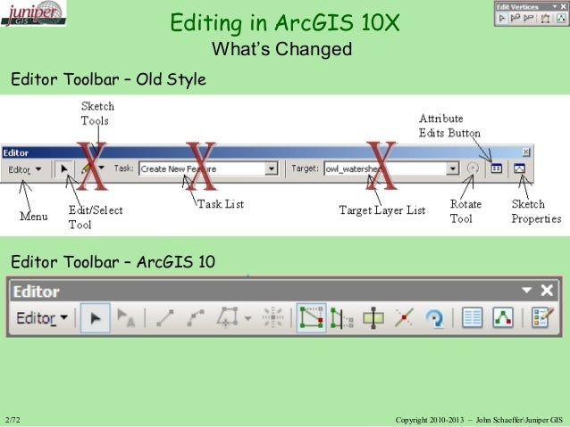 Editing for ArcGIS 10 and 10 1