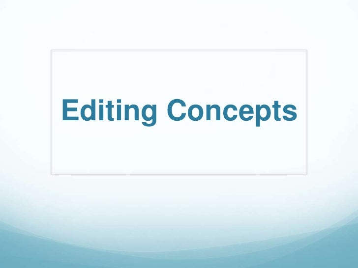 Editing Concepts
