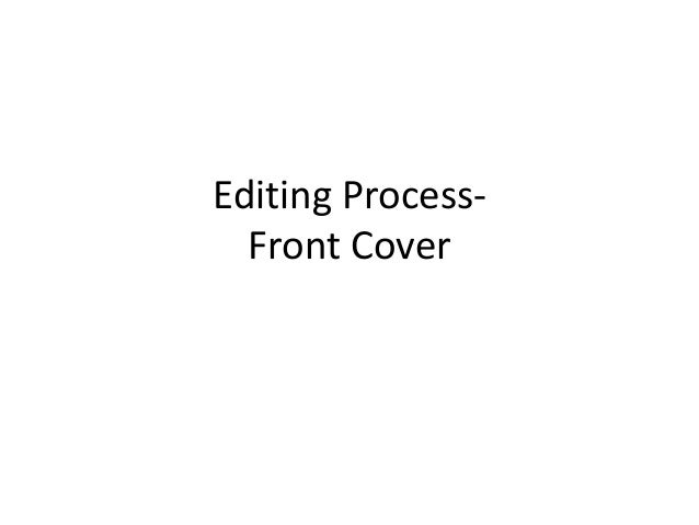 Editing Process- Front Cover