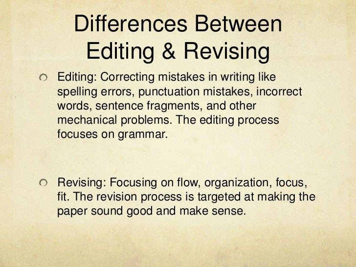 Revision strategies for essays