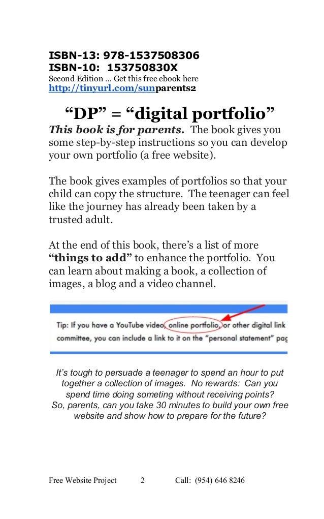 Edition 2 the parent's guide to digital portfolios and free websites Slide 2