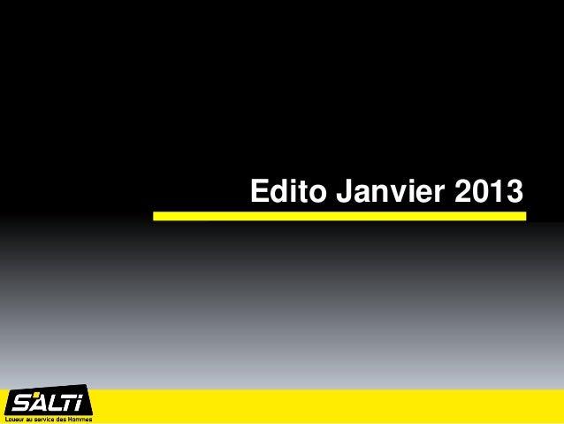Edito Janvier 2013