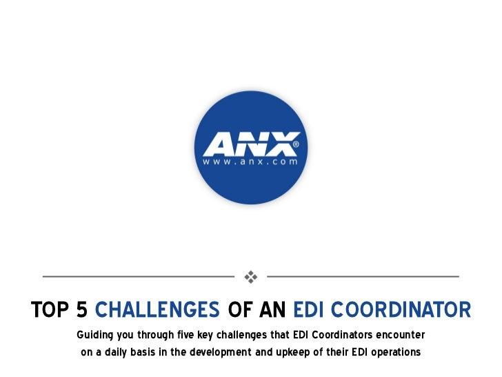 ANX EDI Webinar Slides - Top Challenges of an EDI Coordinator