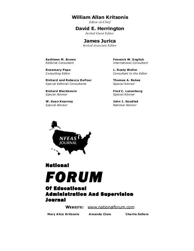 William Allan KritsonisEditor-in-ChiefDavid E. HerringtonInvited Guest EditorJames JuricaInvited Associate EditorKathleen ...