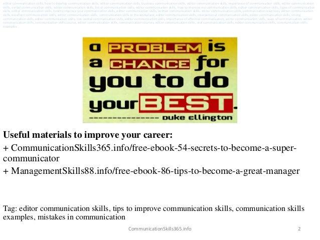 Editor communication skills pdf free download