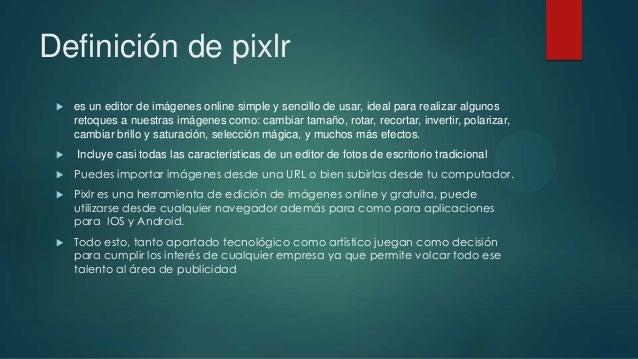 Editor de imagen online pixlr Slide 2