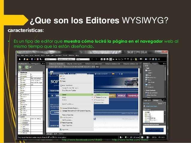 Editores WYSIWYG  Slide 2
