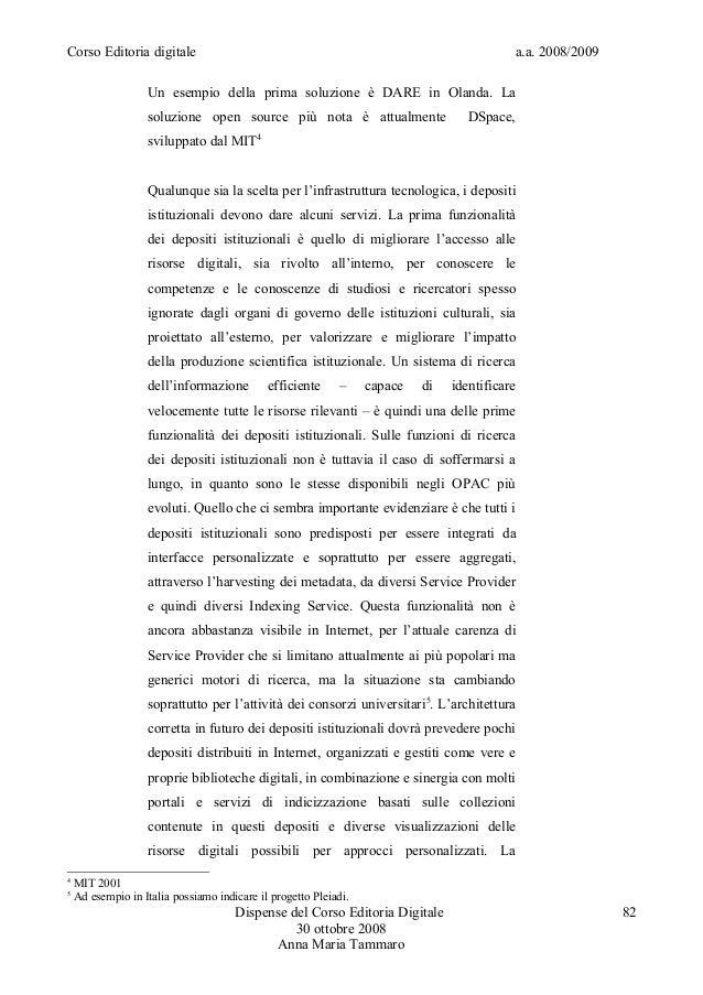 Editoria digitale dispense tammaro 2009