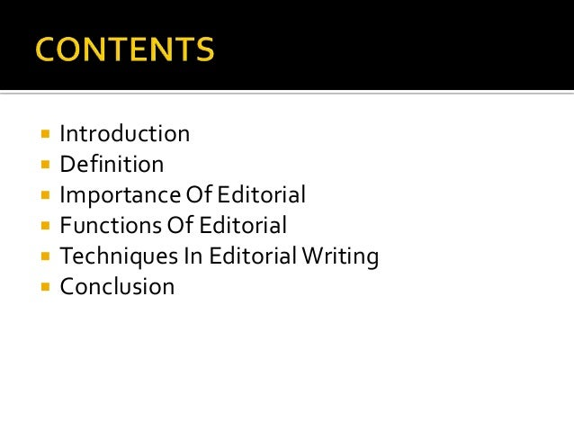 tips on editorial writing