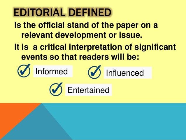 campus journalism editorial writing pdf