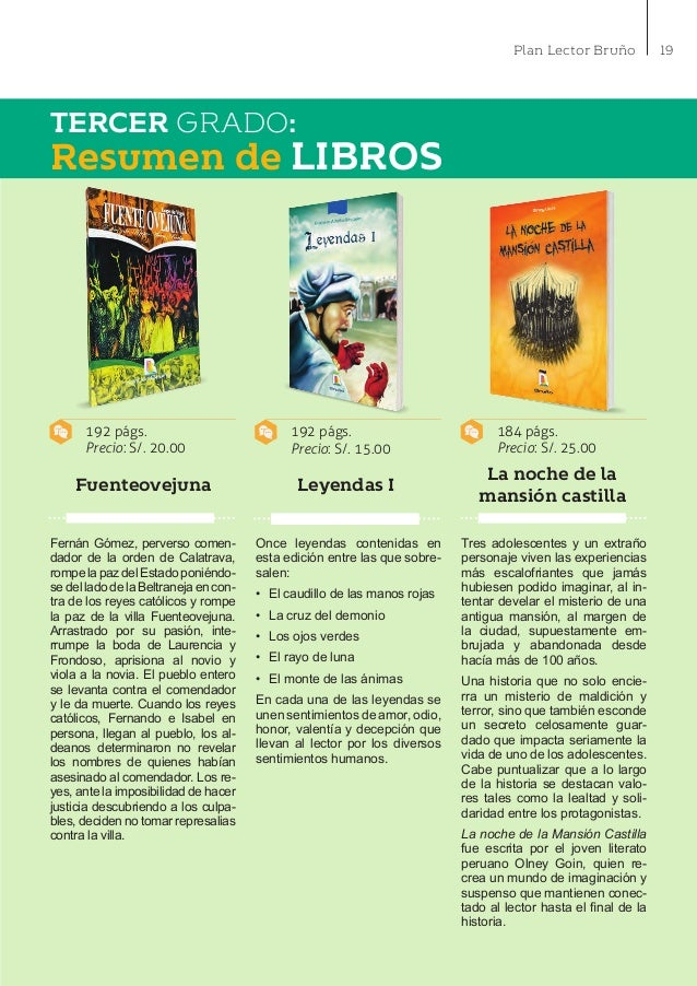 Editorial bruno catalogo plan lector 2016 secundaria