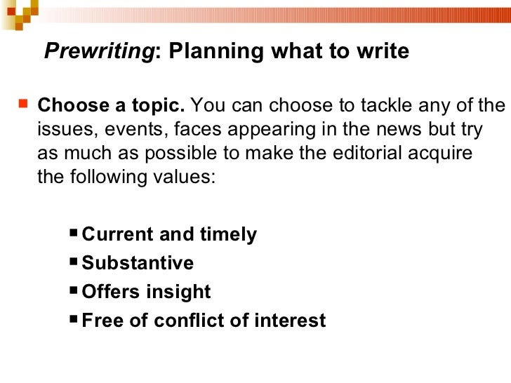 topics for editorial writing In 2018, we are recommitting ourselves to being better listeners and being more  deliberate about writing and responding to the topics that.
