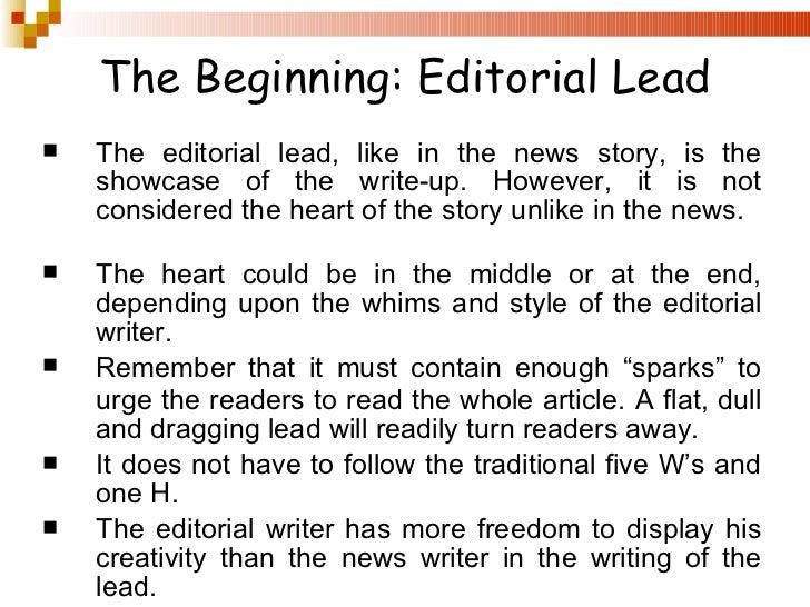 Editorial Writing 101