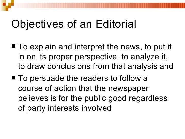 editorial evaluation essay