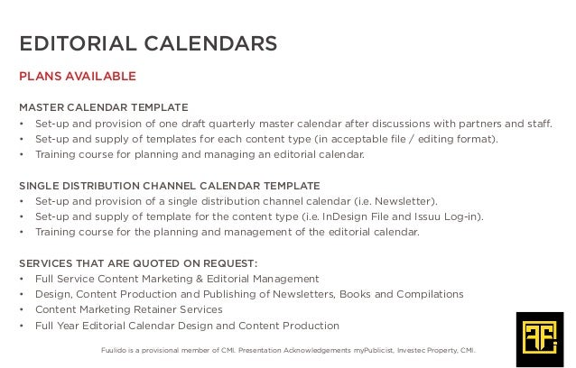 Editorial Calendar - Newsletter editorial calendar template