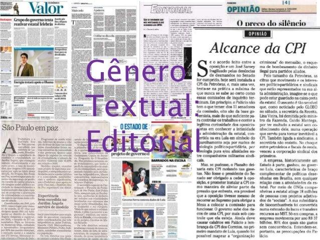 Gênero Textual: Editorial