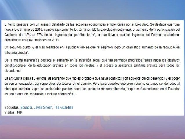 Enlace Ciudadano Nro. 255 - Editorialista de The Guardian resalta cambios en ecuador