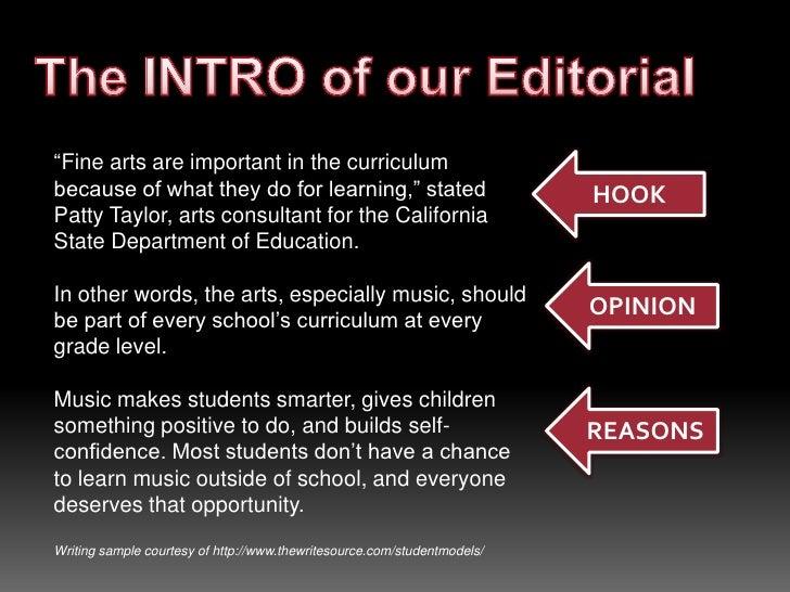 Editorial Writing - Elementary