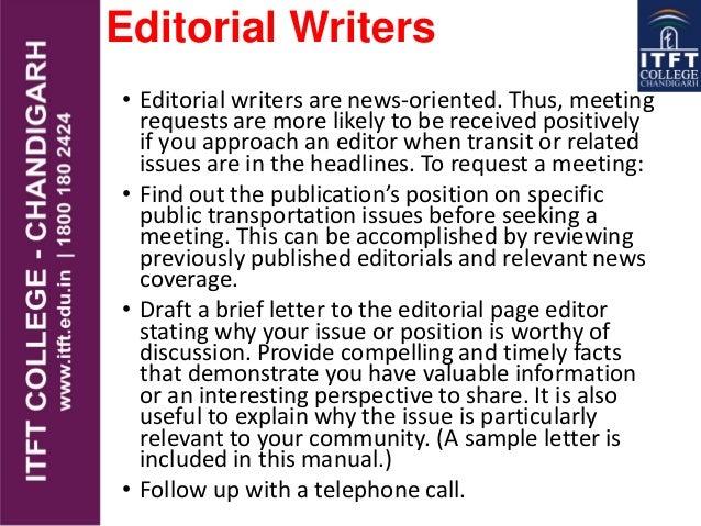 Media Editorial Page