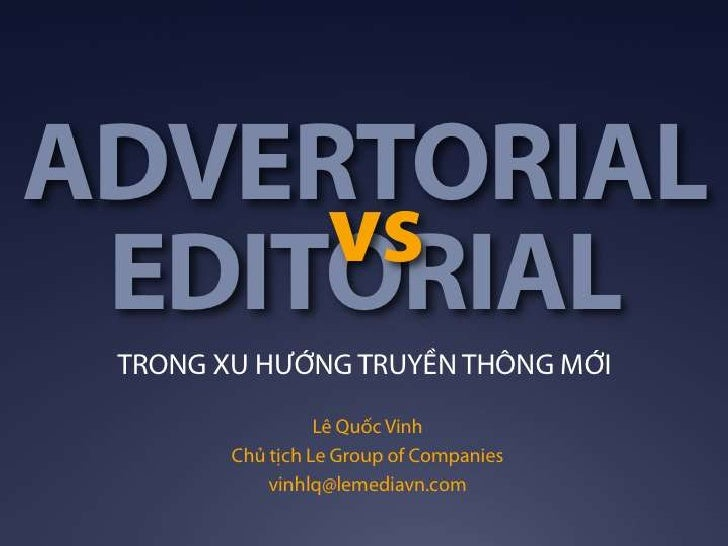 Editorial vs Advertorial