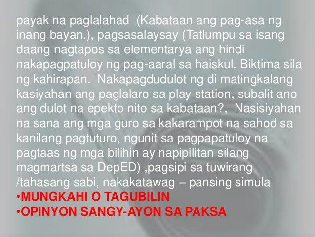 Kabataan ang pag asa ng bayan essay writer