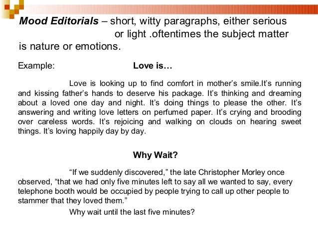 how to write an opinion editorial example