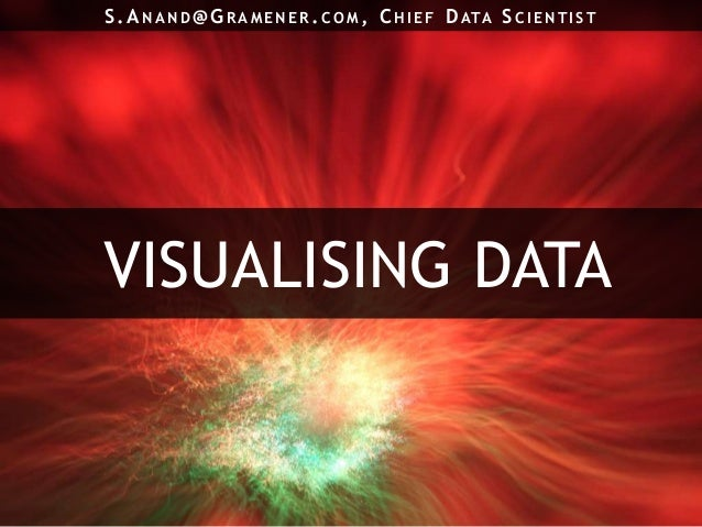 VISUALISING DATAS.A N AN D@ G RAME N E R .CO M , C HIE F DATA SCIE N TIST