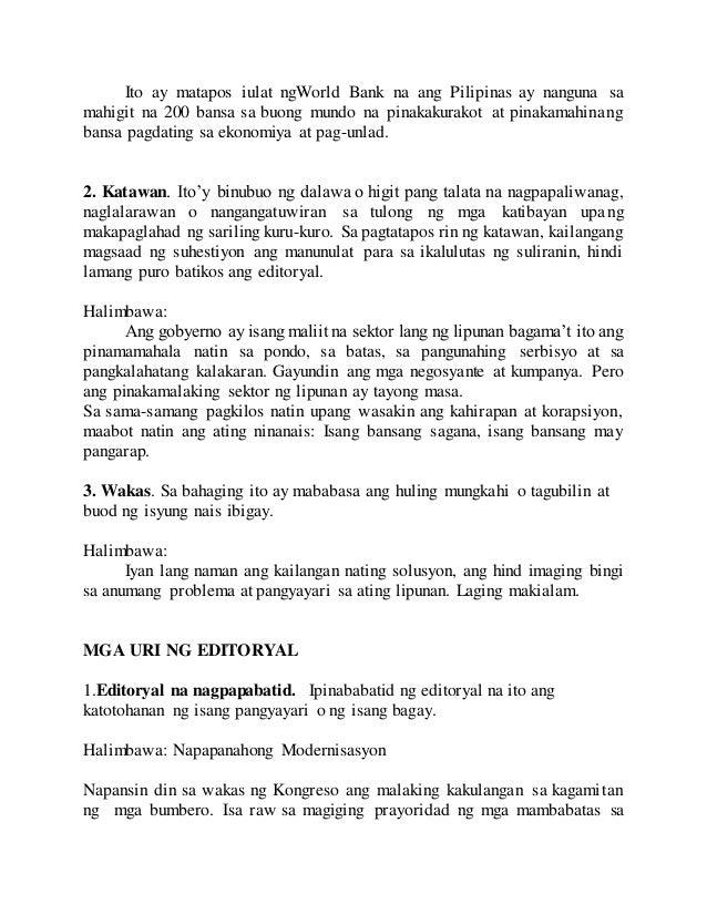 editoryal na nagpapabatid Ang susunod na artikulong mababasa po ninyo ay isa po lamang sa libo libong opinyon tungkol sa issue ng uri ng pagpaparusa sa mga taong may mabibigat na.