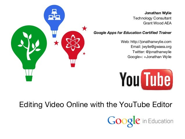 Jonathan Wylie Technology Consultant Grant Wood AEA Google Apps for Education Certified Trainer Web: http://jonathanwylie....