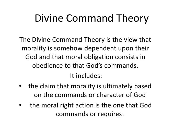 an overview of the divine command theories in different religions Divine command theory addresses many of our biggest questions about  you  soon find that god and his religious texts must be superfluous,.