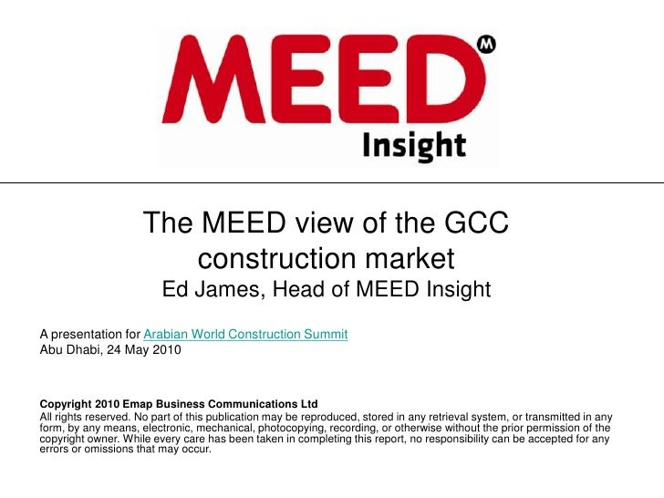 The MEED view of the GCC                          construction market                          Ed James, Head of MEED Insi...