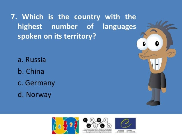 European Day Of Languages Quiz - Languages spoken by country