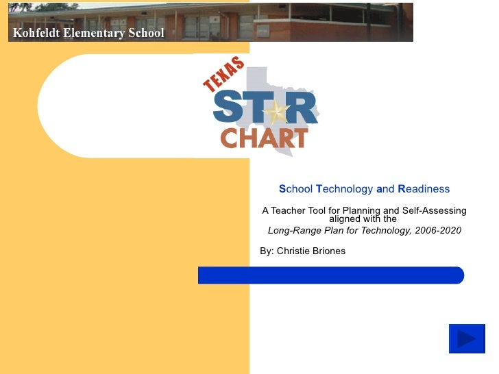 School Technology and Readiness A Teacher Tool for Planning and Self-Assessing                aligned with the  Long-Range...