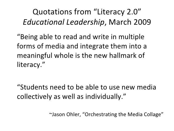 Ed Leadership Literacy 2.0 Quotes
