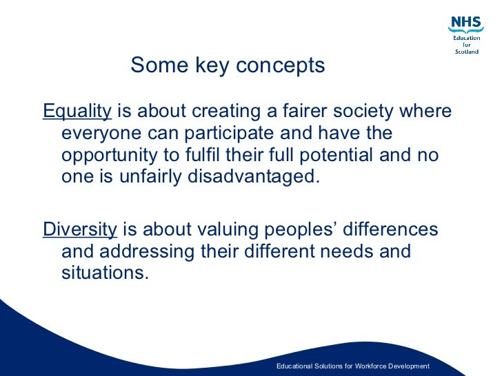 what is equality in health and social care