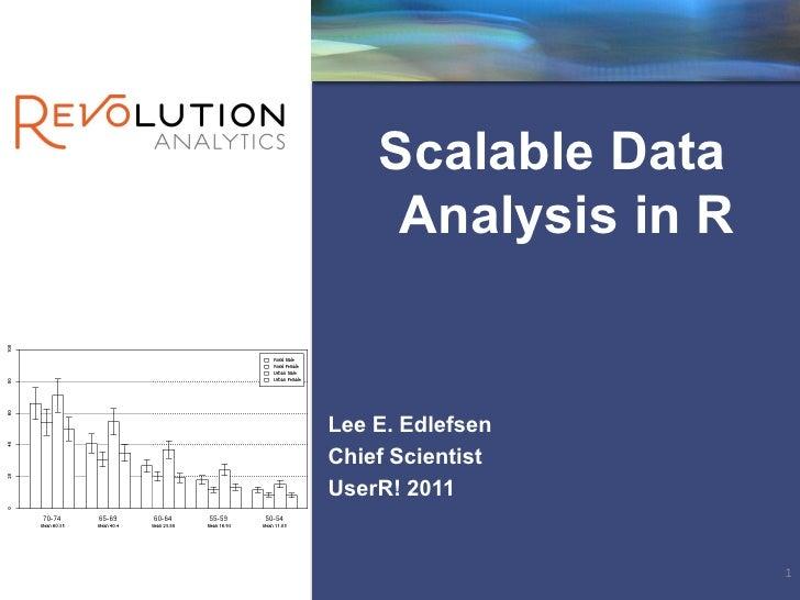 Scalable Data     Analysis in RLee E. EdlefsenChief ScientistUserR! 2011                     1