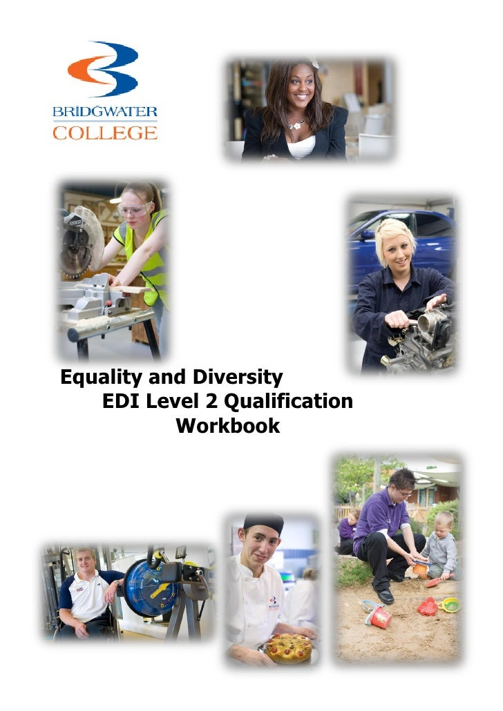 Equality and Diversity   EDI Level 2 Qualification           Workbook