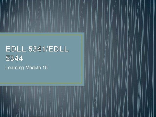 Learning Module 15