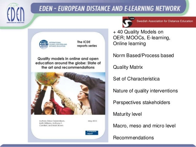 European Distance Learning Week: Challenges ahead for quality in open, online and technology enabled learning Slide 3