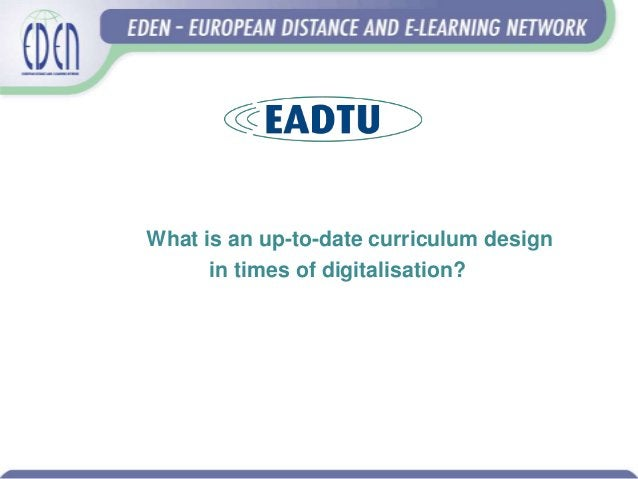 What is an up-to-date curriculum design in times of digitalisation?