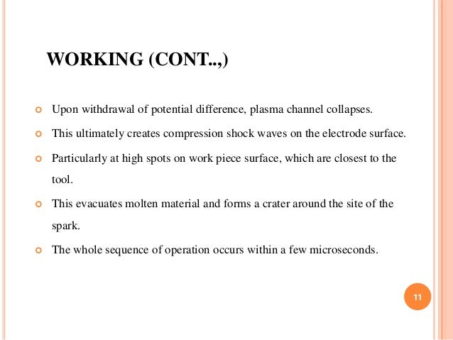 WORKING (CONT..,)  Upon withdrawal of potential difference, plasma channel collapses.  This ultimately creates compressi...