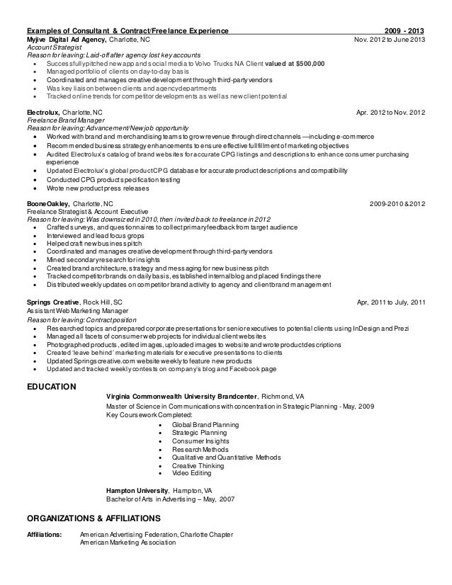 ad agency resumes template
