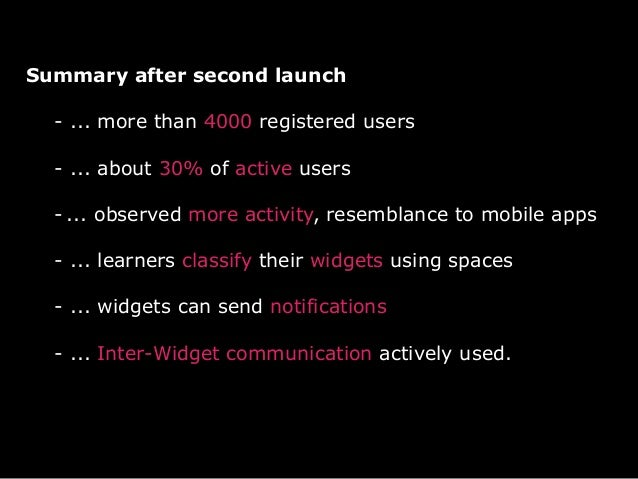 Top most used widgets out of 75 totally- consist of university services:Zid news (>2000), TUGMail (>1000), TUG online(>100...
