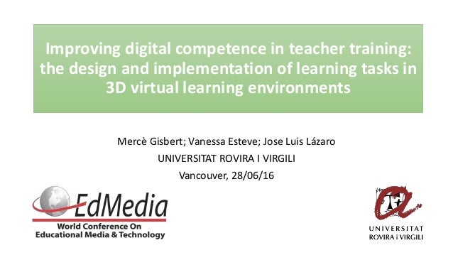 Improving digital competence in teacher training: the design and implementation of learning tasks in 3D virtual learning e...