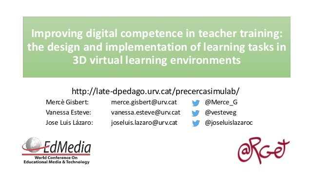 Virtual Classroom Design And Implementation ~ Improving digital competence in teacher training the