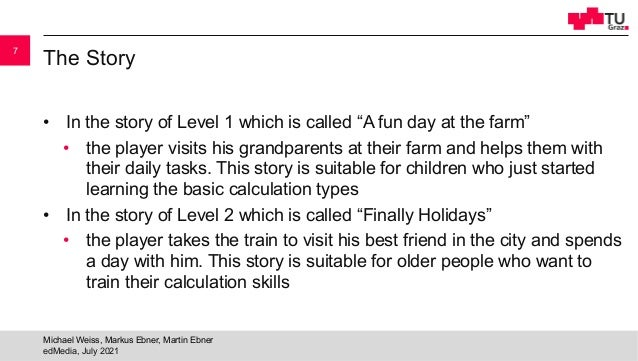 """The Story • In the story of Level 1 which is called """"A fun day at the farm"""" • the player visits his grandparents at their ..."""